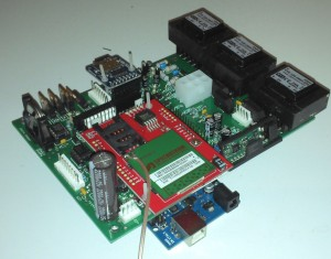 One of our microprocessor PCB assemblies for remote logging and turbine control
