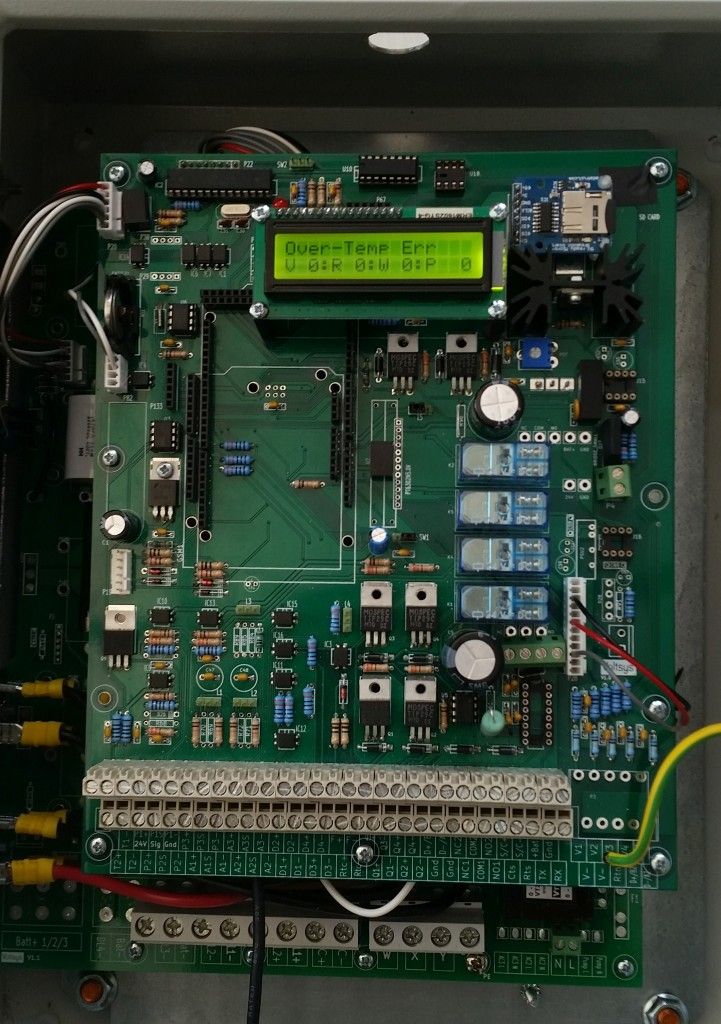 Microprocessor based controller with datalogging